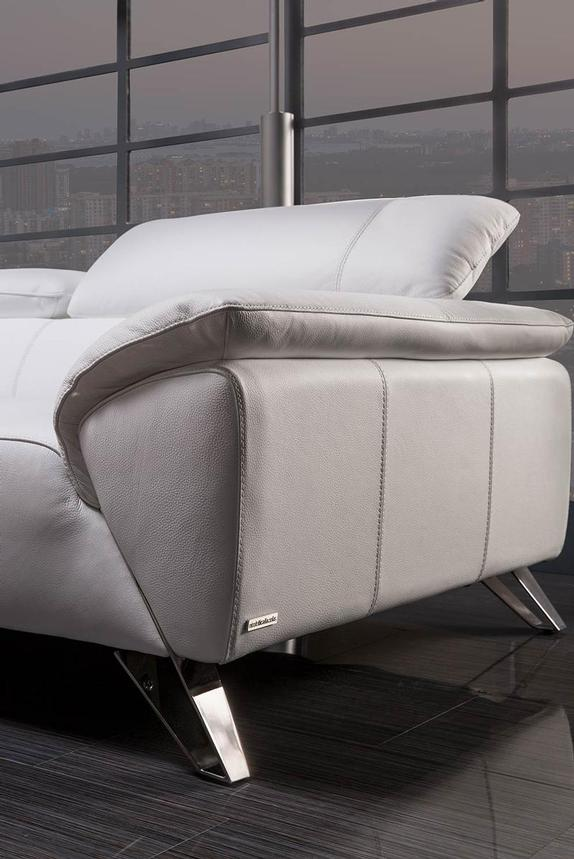 Tesla White Oversized Leather Sofa  alternate image, 2 of 8 images.
