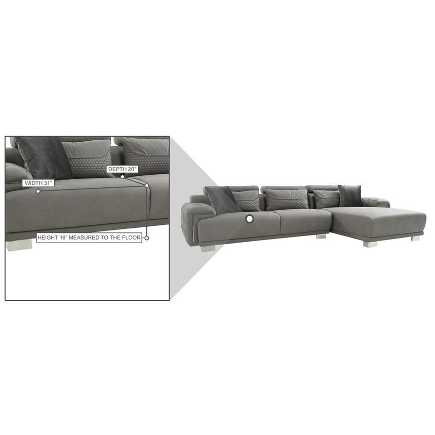 Zulima Corner Sofa w/Right Chaise  alternate image, 8 of 9 images.