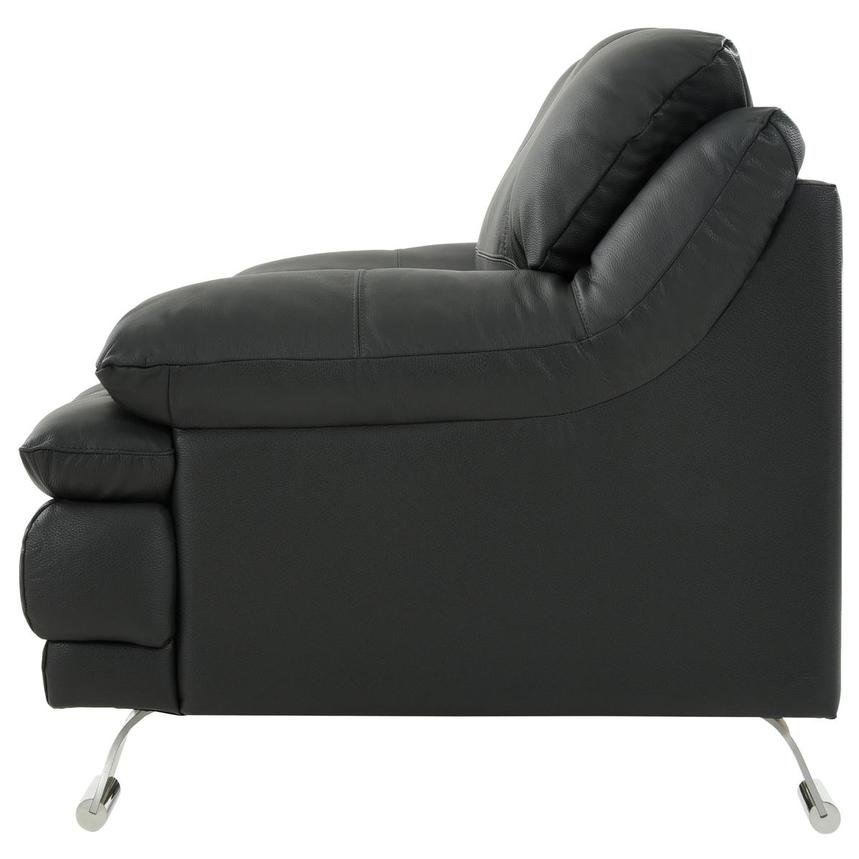 Rio Dark Gray Leather Chair  alternate image, 3 of 7 images.