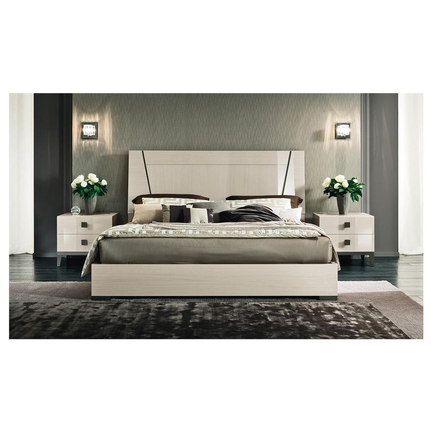 Mont Blanc Gray Queen Platform Bed Made in Italy  alternate image, 2 of 7 images.