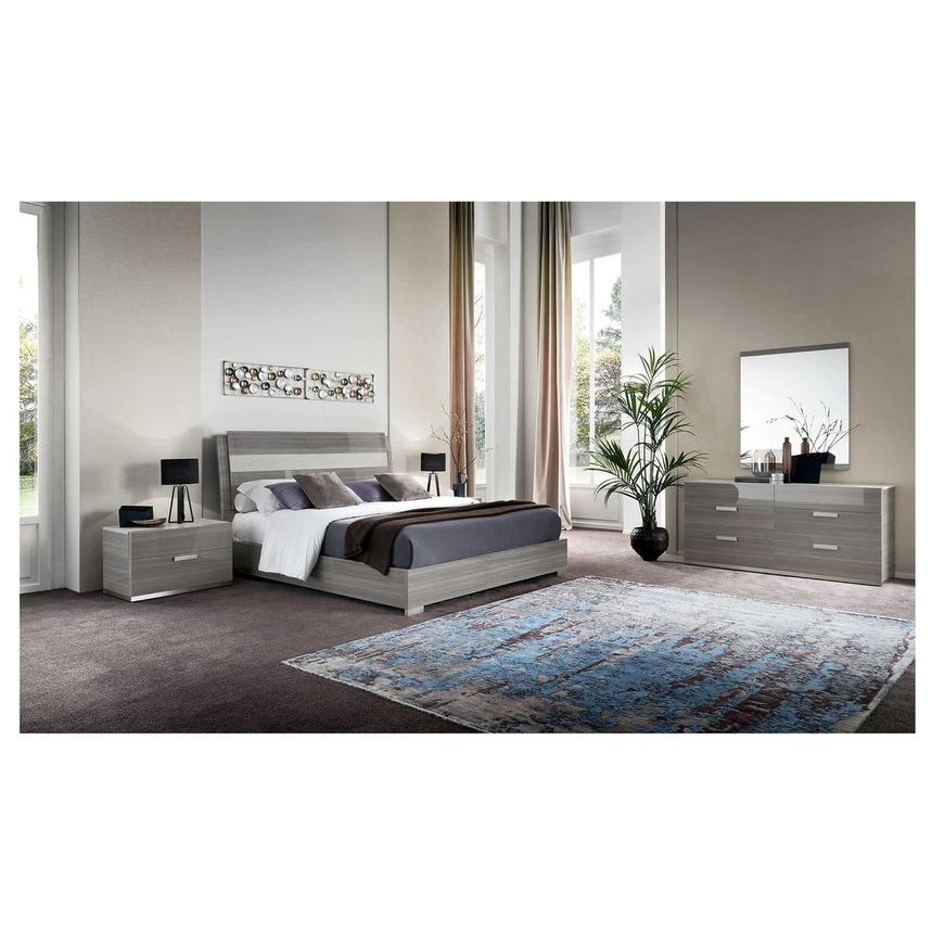 Iris Queen Platform Bed Made in Italy  alternate image, 2 of 7 images.