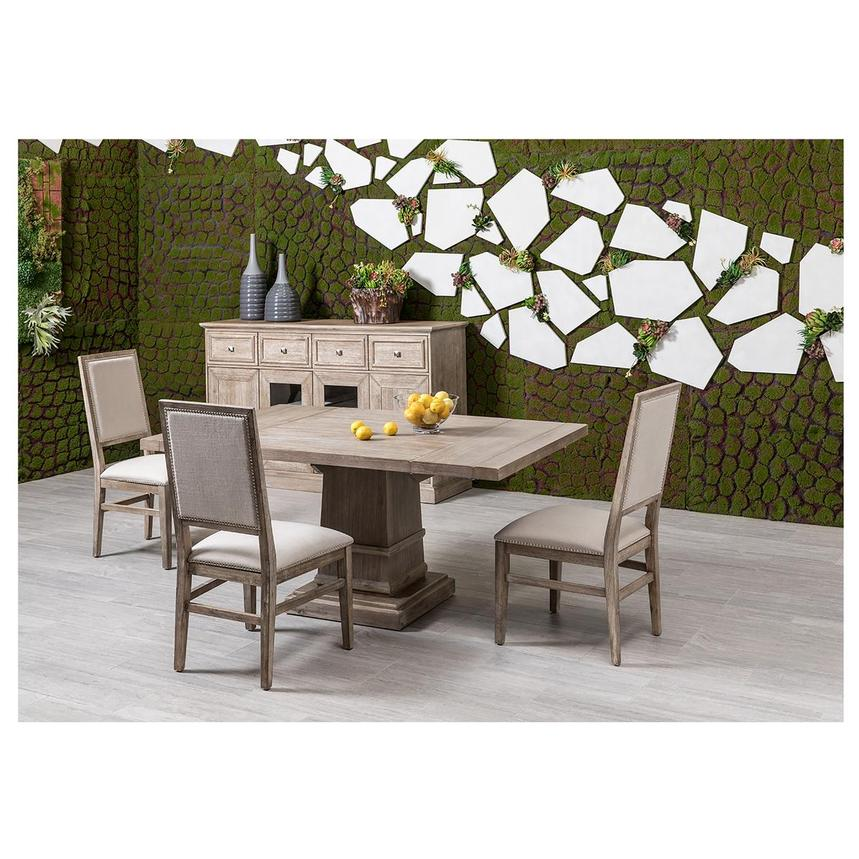 Hudson Gray/Dexter Gray 5-Piece Dining Set  alternate image, 4 of 16 images.