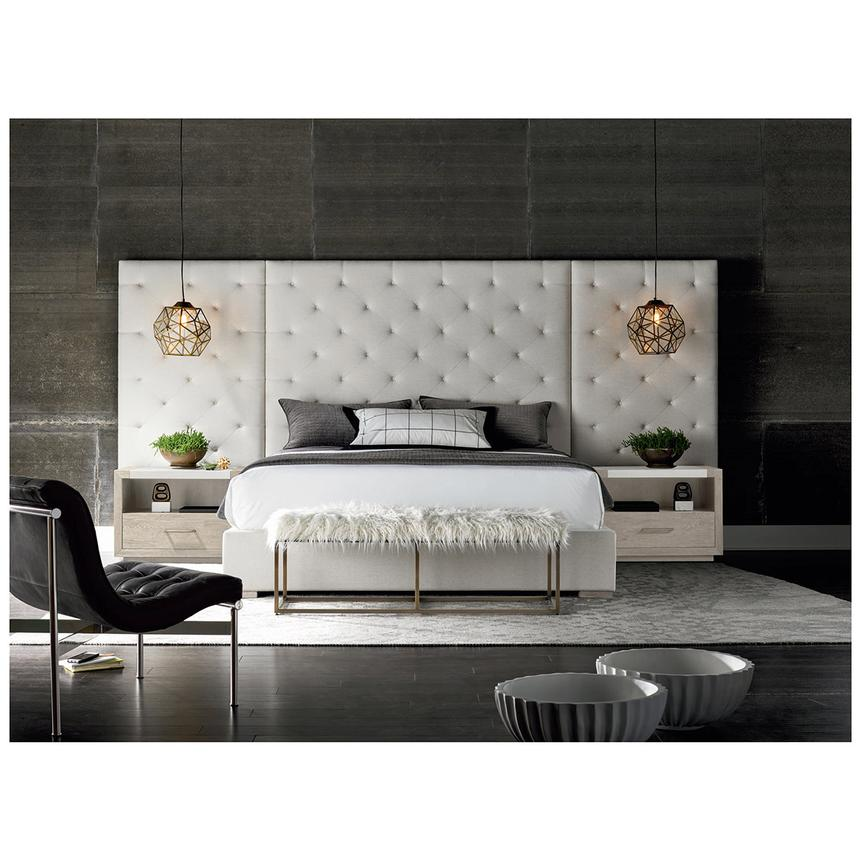 Modern Universe King Platform Bed w/Side Panels & Nightstands  alternate image, 2 of 8 images.