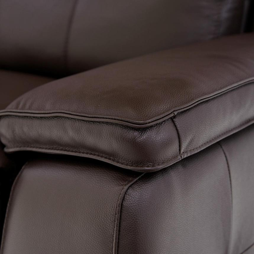 Gian Marco Dark Brown Leather Power Reclining Sectional  alternate image, 5 of 8 images.