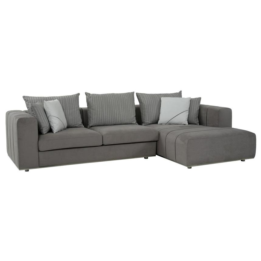 Silvia Sectional Sofa w/Right Chaise  main image, 1 of 10 images.