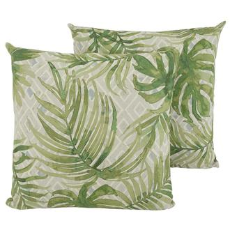 Joey Green Two Accent Pillows