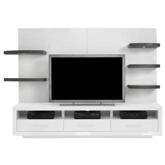 Contour I White/Gray Wall Unit