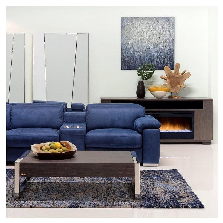 Karly Blue Home Theater Seating El, Home Theater Couch Living Room Furniture