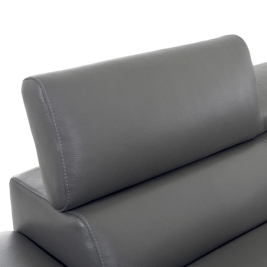 Sparta Gray Leather Corner Sofa w/Left Chaise  alternate image, 7 of 12 images.