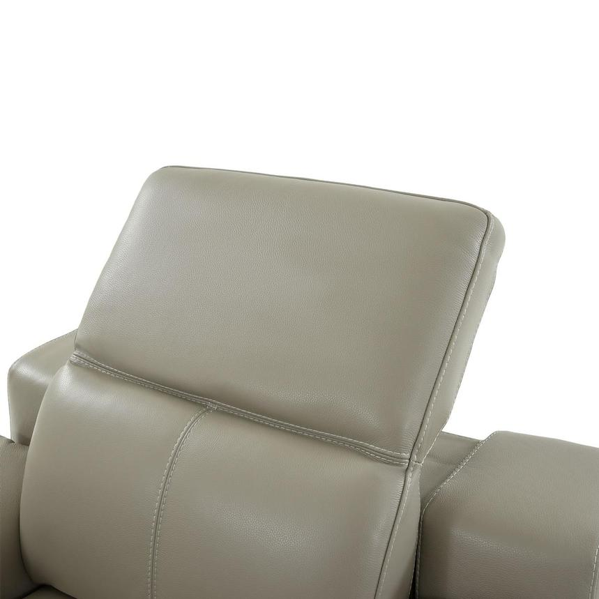 Katherine Taupe Leather Power Recliner  alternate image, 6 of 12 images.