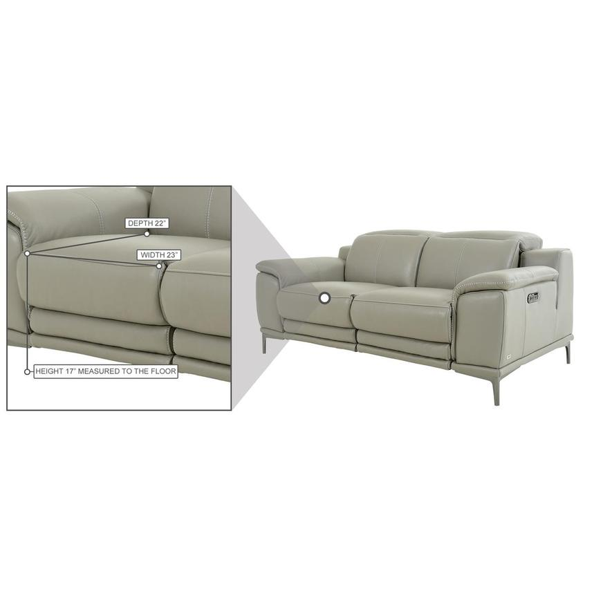 Katherine Taupe Leather Power Reclining Loveseat  alternate image, 12 of 12 images.