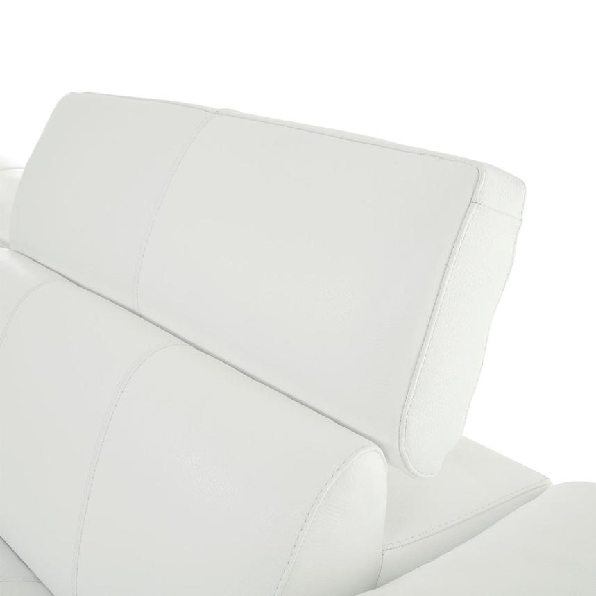 Sofextra White Leather Power Reclining Sofa w/Right Chaise  alternate image, 9 of 16 images.
