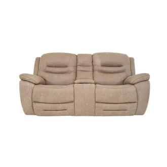 Dan Cream Power Reclining Sofa w/Console