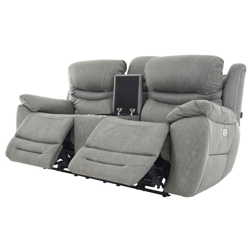 Dan Gray Power Reclining Sofa w/Console  alternate image, 3 of 13 images.