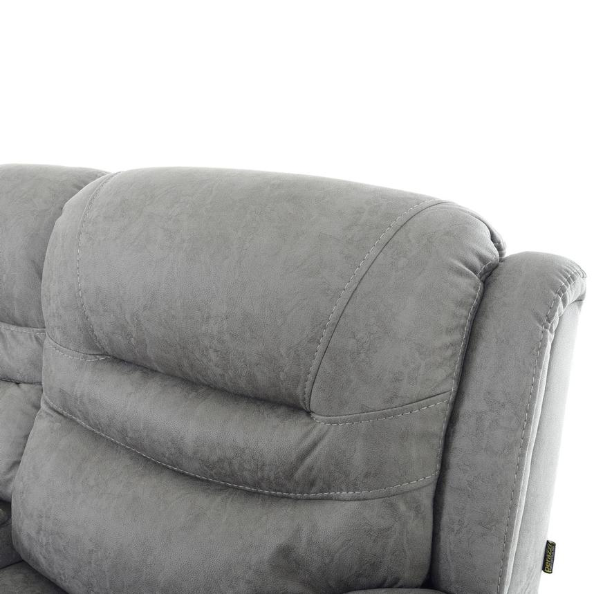 Dan Gray Power Reclining Sofa w/Console  alternate image, 7 of 12 images.
