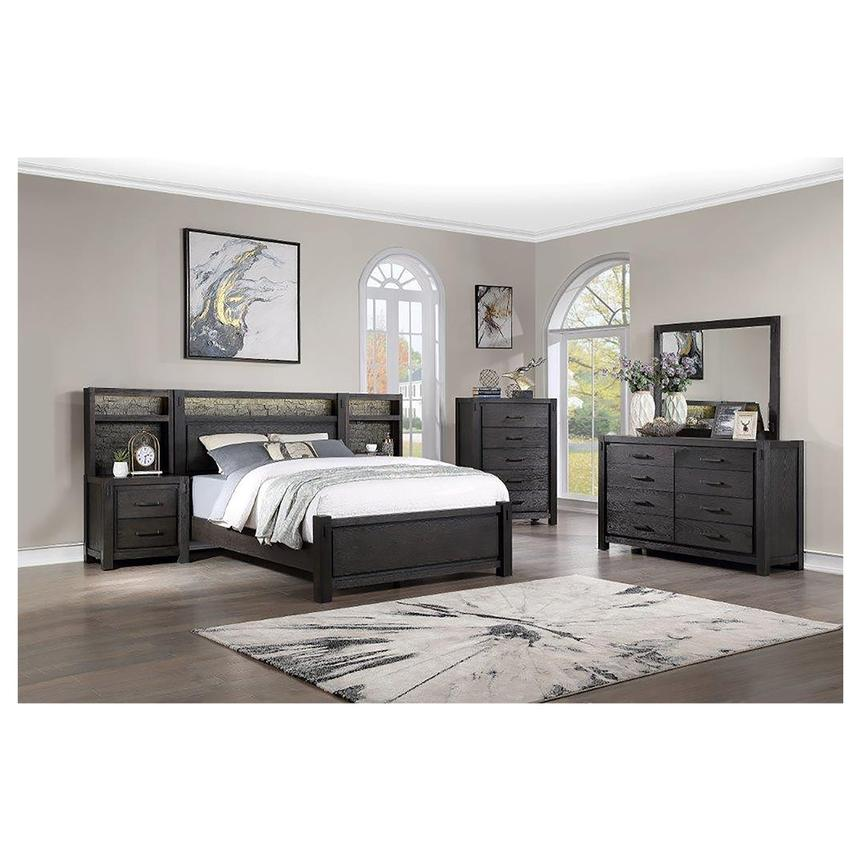 Roca King Platform Bed w/Nightstands  alternate image, 3 of 12 images.