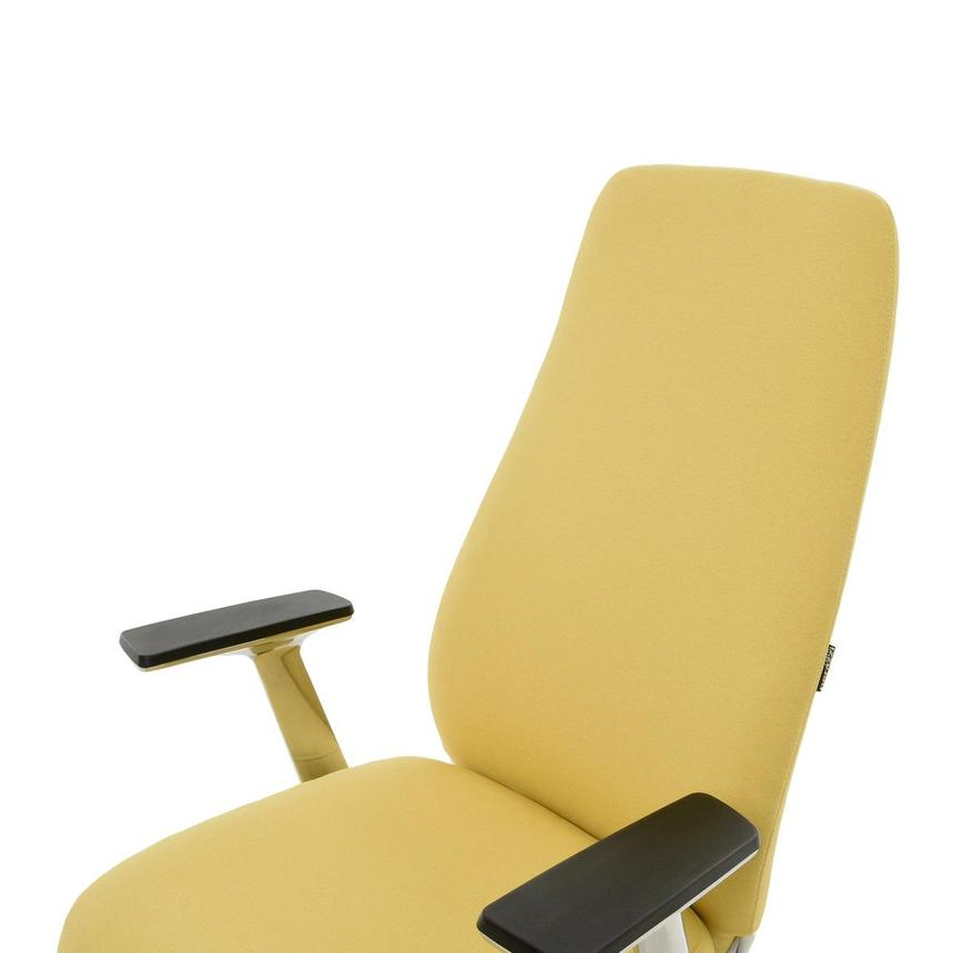 Pepe Yellow High Back Desk Chair  alternate image, 7 of 10 images.