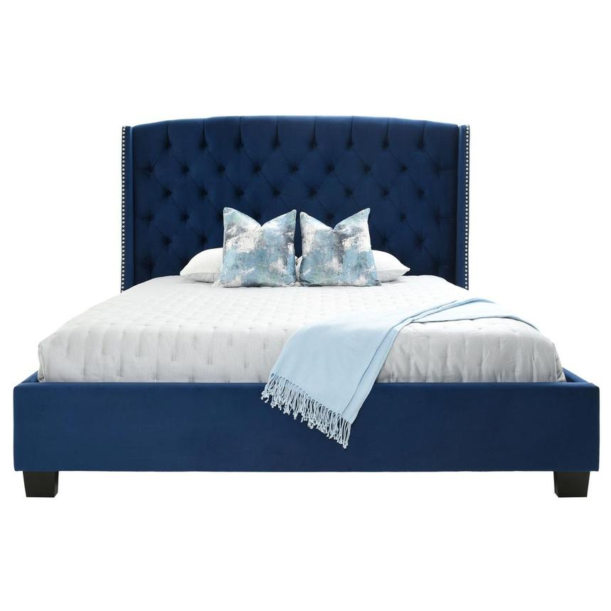 Majestic II Blue King Platform Bed  alternate image, 3 of 8 images.