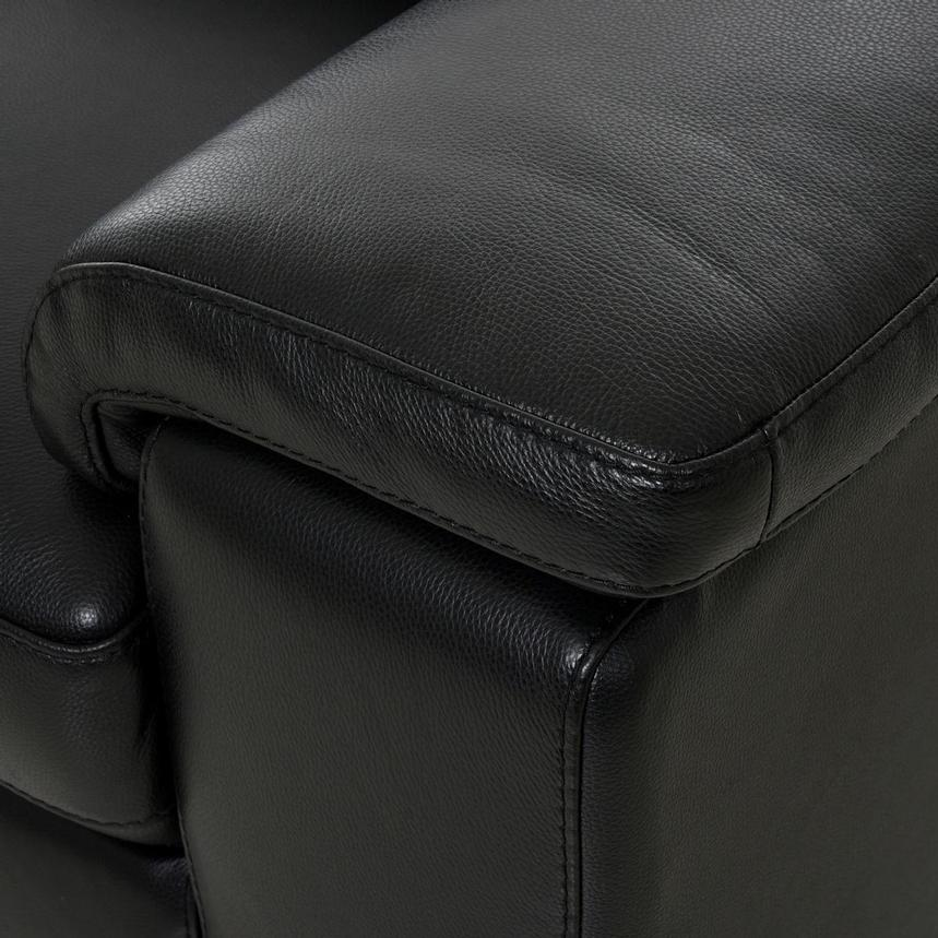 Charlie Black Leather Chair  alternate image, 8 of 11 images.