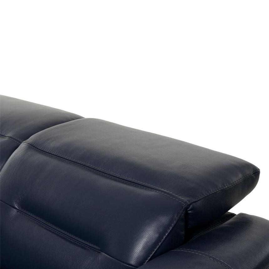 Anabel Blue Leather Loveseat  alternate image, 7 of 10 images.