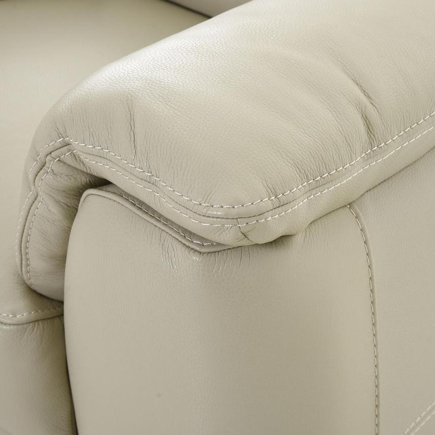 Anabel Cream Leather Loveseat  alternate image, 8 of 11 images.