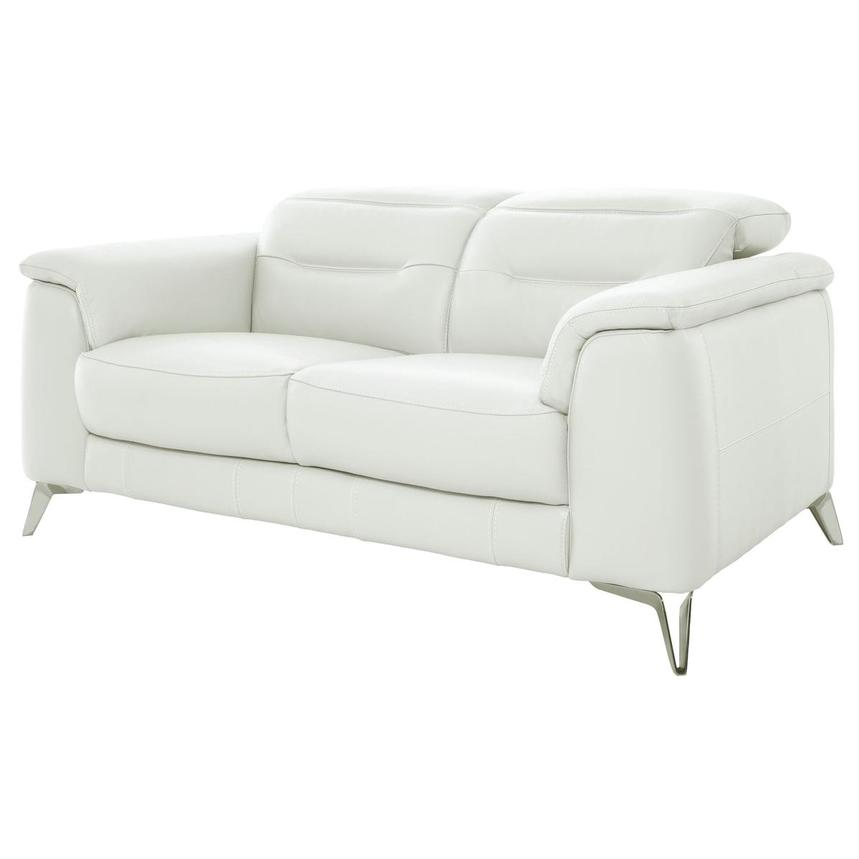 Anabel White Leather Loveseat  alternate image, 2 of 10 images.