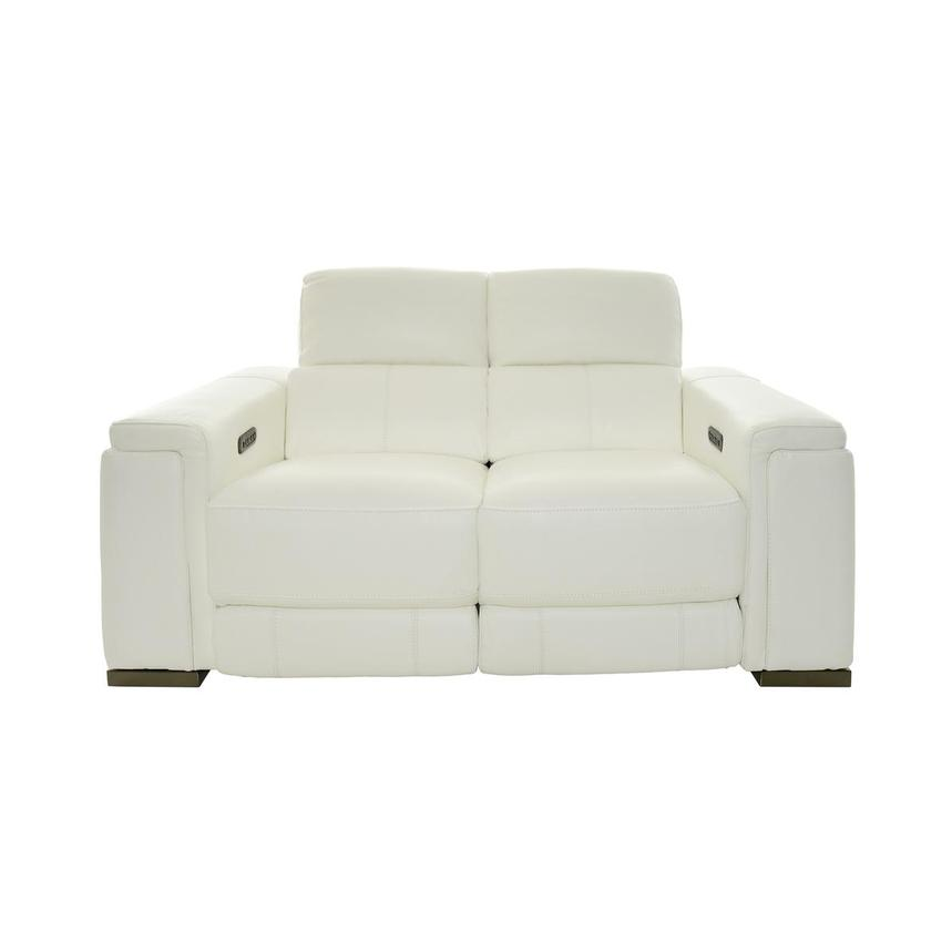 Charlette Leather Power Reclining Loveseat  main image, 1 of 12 images.