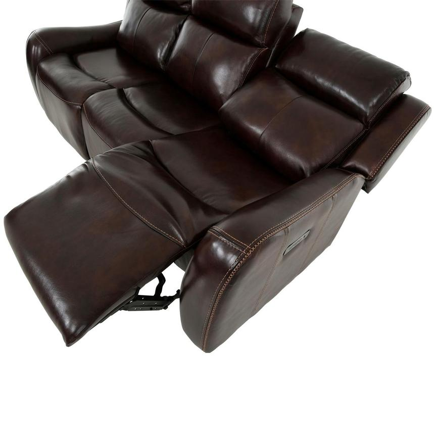Jake Brown Leather Power Reclining Sofa  alternate image, 8 of 14 images.
