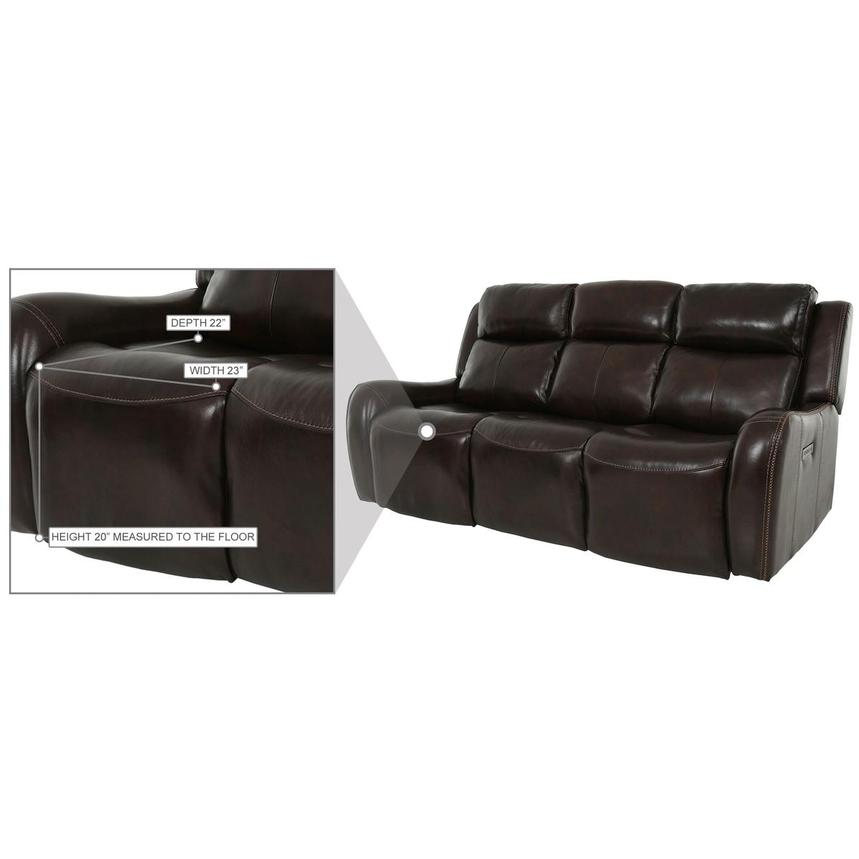 Jake Brown Leather Power Reclining Sofa  alternate image, 13 of 14 images.