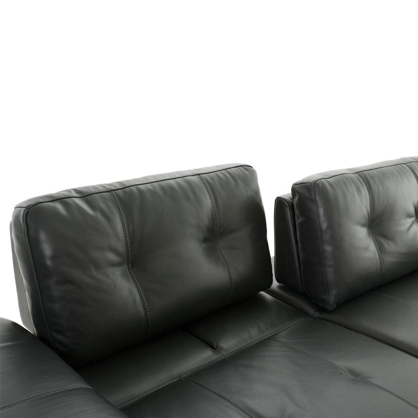 Shale Dark Gray Leather Sectional Sofa  alternate image, 7 of 12 images.