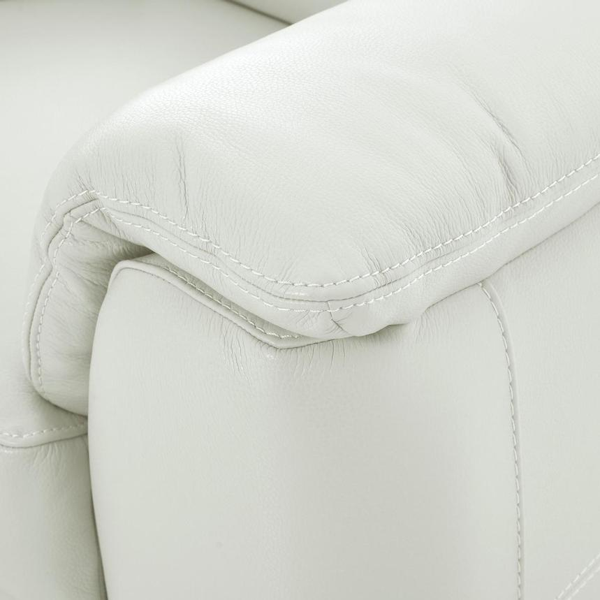 Anabel White Leather Sofa  alternate image, 8 of 11 images.