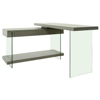 Cherish Gray L-Shaped Desk