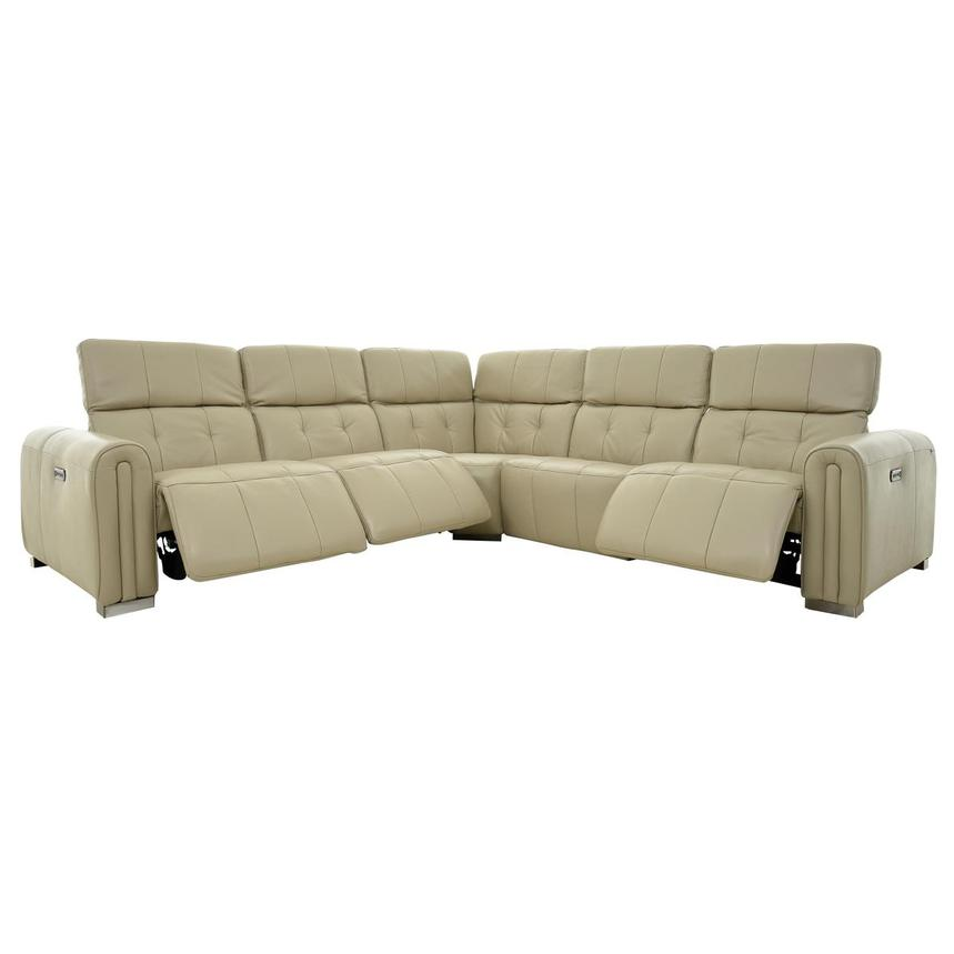 Dolomite Leather Power Reclining Sectional  alternate image, 2 of 11 images.