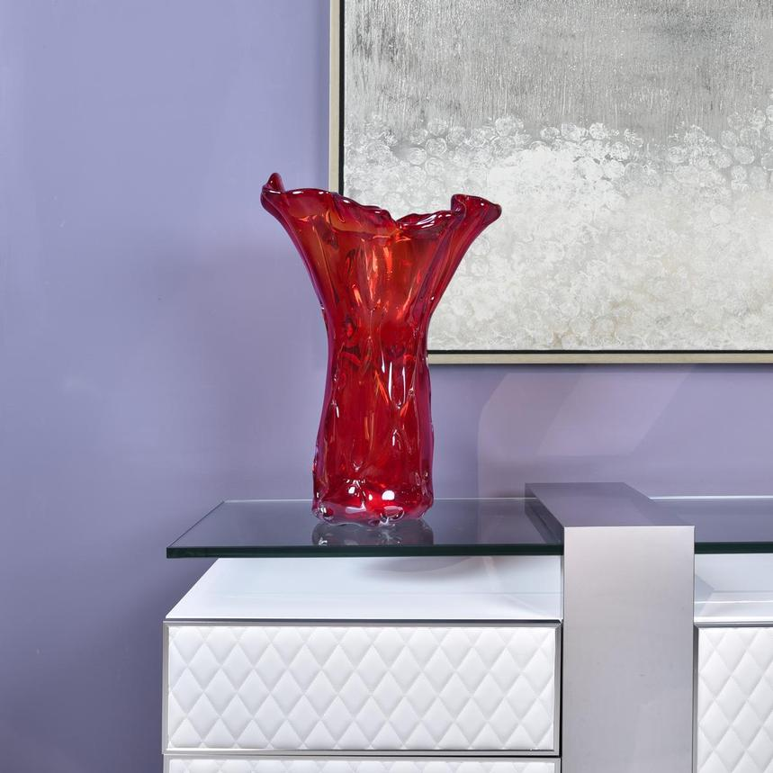Mahle Red Glass Vase  alternate image, 2 of 6 images.