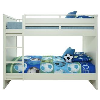 Cruise White Twin Over Twin Bunk Bed