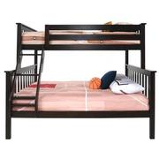 Ayden Espresso Twin Over Full Bunk Bed  main image, 1 of 7 images.