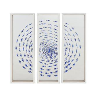 Blue Swirl Set of 3 Shadow Boxes