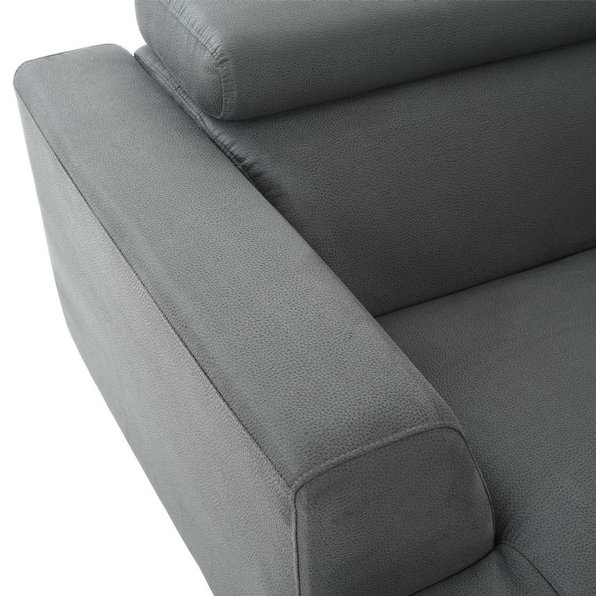 Ilias Gray Corner Sofa w/Right Chaise  alternate image, 9 of 10 images.