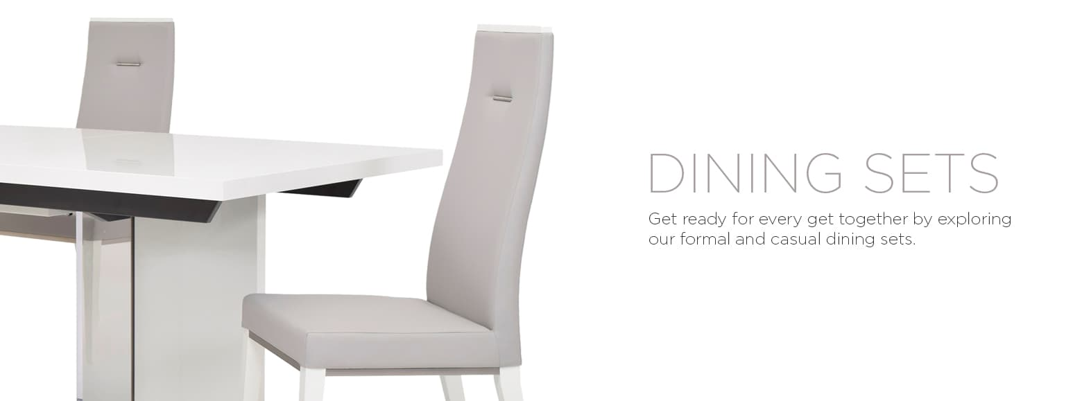 Dining Sets. Get ready for every get together by exploring our formal and casual dining sets.