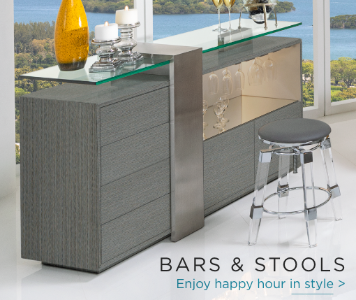 Bars & Stools. Enjoy happy hour in style.