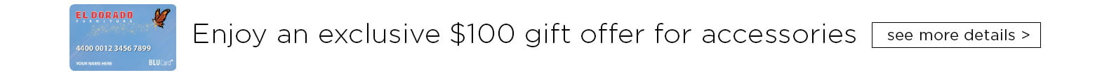 Enjoy an exclusive one hundred dollars gift offer. See more details.