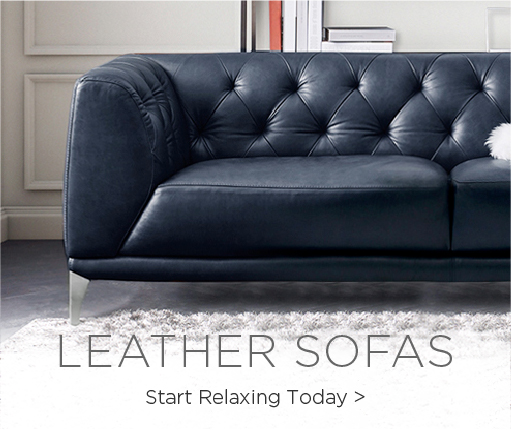 Leather Sofas. Start Relaxing Today.